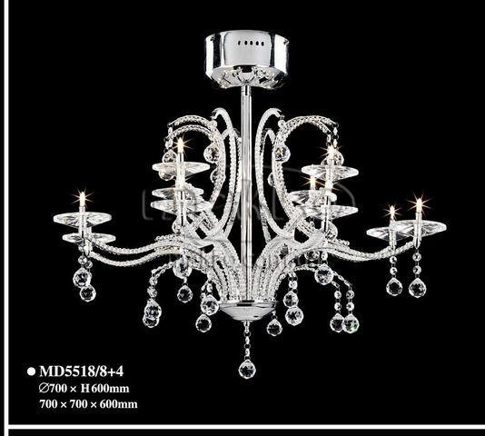 """Кришталева люстра """"MD5518-8+4 chandelier"""" (700х600 мм) Bulgarini  Золотоноша"""